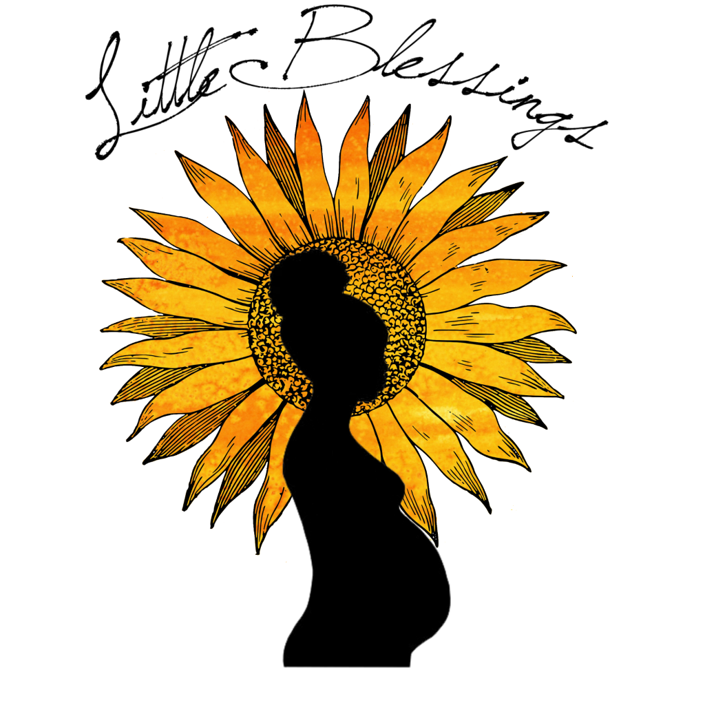 logo with pregnant woman and sunflower